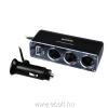 Sencor SCH 440 3-es szivargyújtó elosztó, USB aljzattal