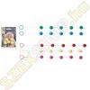 Seven Creations Anal Beads - anál gyöngysor különböző színekben