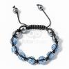 Shamballa karkötő 7 kristály + 4 csakragolyó kék jwr-1562