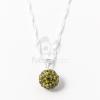 Shamballa medál nyakláncon olíva jwr-1445