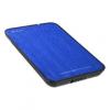 Sharkoon Külső HDD Ház 2.5 - QuickStore Portable (kék max 9,5mm 2,5 Sata HDD - USB csatl. szálcsiszolt felső r.)