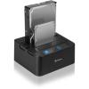 Sharkoon QuickPort Duo 2.5/3.5' SATA USB3.0 dokkoló fekete