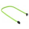 Sharkoon Sata III Kabel 90° sleeve (zöld, 30 cm)