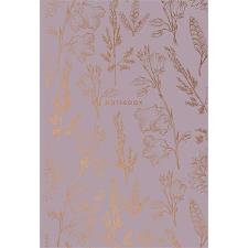SHKOLYARYK Jegyzetfüzet, kockás, A5, 80 lap, keményfedeles, SHKOLYARYK,  Gold Flower , vegyes jegyzettömb