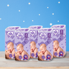Shoppy New Love Premium comfort gyermek eldobható pelenka, 3 MIDI, 4-9 kg, 5x48 db pelenka