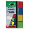 """SIGEL Jelölőcímke, műanyag, 4x40 lap, 20x50 mm, SIGEL """"Transparent"""", vegyes szín"""