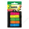 SIGEL Jelölőcímke, műanyag, 5x40 lap, 12x45mm, SIGEL, vegyes szín (SIHN489)