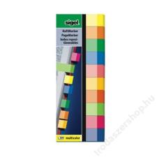 SIGEL Jelölőcímke, papír, 10x50 lap, 15x50 mm, SIGEL Multicolor, vegyes szín (SIHN682) jegyzettömb