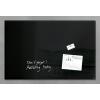 "SIGEL Mágneses üvegtábla, 100x65 cm, SIGEL ""Artverum® "" fekete"