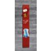 SIGEL Mágneses üvegtábla, 12x78 cm, SIGEL Artverum® , piros