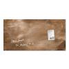 SIGEL Mágneses üvegtábla, 46x91 cm, SIGEL  Artverum®  ,öregített bronz