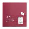 SIGEL Mágneses üvegtábla, 48x48 cm, SIGEL  Artverum®  , bogyó piros