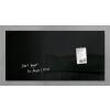 SIGEL Mágneses üvegtábla, 91x46 cm, SIGEL Artverum® , fekete