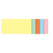 SIGEL Moderációs kártyák, szögletes,10x20 cm, 6 szín, SIGEL, vegyes színek ajándéktárgy