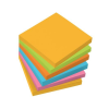 SIGEL Öntapadó jegyzettömb, 75x75 mm, 100 lap, 6 szín, SIGEL, vegyes színek