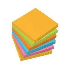 SIGEL Öntapadó jegyzettömb, 75x75 mm, 100 lap, 6 szín, SIGEL, vegyes színek jegyzettömb