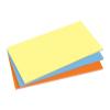 SIGEL Öntapadó jegyzettömb, elektrosztatikus, 100x200 mm, 100 lap, SIGEL, 3 különböző szín