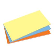 SIGEL Öntapadó jegyzettömb, elektrosztatikus, 100x200 mm, 100 lap, SIGEL, 3 különböző szín jegyzettömb
