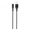 Silicon Power kábel; microUSB - USB; Boost Link LK30AB Nylon; 1M; 2.4A; fekete