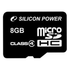 Silicon Power microSDHC 8GB Class 4 memóriakártya