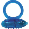 Silicone Soft Cock-Ring blue m. Vibr.