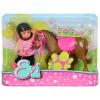 Simba Toys Steffi Love - Évi Love baba sötétbarna pónival