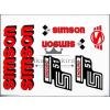 SIMSON MATRICA KLT. ENDURO PIROS / SIMSON - ENDURO