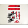 SIMSON MATRICA KLT. S50B PIROS / SIMSON - 50