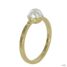Skagen Női gyűrű arany színű Gyöngy fehérJRSG035 S8 Gr. 57 (18,1) gyűrű