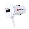 """Skross Autós töltő, micro USB + USB csatlakozó, 2A, spirál kábel, SKROSS """"CARUSBMICRO"""""""