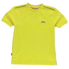 Slazenger Slazenger gyerek póló - Slazenger Plain T Shirt Junior Boys Yellow
