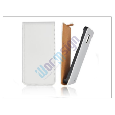 Slim Slim Flip bőrtok - Samsung SM-G800 Galaxy S5 Mini - fehér tok és táska