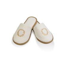 Soft Cotton SEHZADE férfi papucs 30 cm (42/44 szám) Vaj szín - arany hímzés / Ecru -gold embroidery