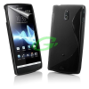 Sony-Ericsson Sony LT22 Xperia P fekete szilikon tok