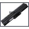 Sony VAIO VGN-CS19/W 4400 mAh 6 cella fekete notebook/laptop akku/akkumulátor utángyártott