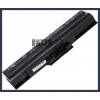 Sony VAIO VGN-CS23T/W 4400 mAh 6 cella fekete notebook/laptop akku/akkumulátor utángyártott