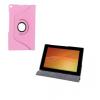 Sony Xperia Tablet Z2, bőrtok, mappa tok, elforgatható (360°), rózsaszín