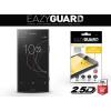 Sony Xperia XZ1 Compact, Kijelzővédő fólia (az íves részre is), Eazy Guard, Diamond Glass (Edzett gyémántüveg), fekete