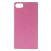 Sony Xperia Z5 Compact, TPU szilikon tok, bőrhatású, rózsaszín