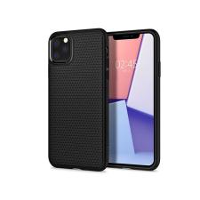 Spigen Apple iPhone 11 Pro Max ütésálló hátlap - Spigen Liquid Air - fekete tok és táska