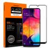 Spigen Glass FC Samsung Galaxy A50/A30 fekete edzett üveg kijelzővédő fólia