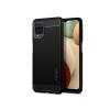 Spigen Samsung A125F Galaxy A12 ütésálló hátlap - Spigen Rugged Armor - fekete