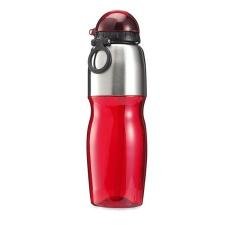. Sportkulacs, 800 ml-es, piros kulacs, kulacstartó