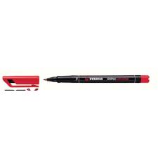 """STABILO Alkoholos marker, 0, 7 mm, STABILO """"OHPen F"""", piros filctoll, marker"""