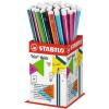 "STABILO Grafitceruza display, 2B, háromszögletű, vastag, STABILO ""Trio thick"""