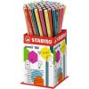 "STABILO Grafitceruza radírral display, HB, hatszögletû, STABILO ""Pencil 160"""