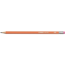 "STABILO Grafitceruza radírral, HB, hatszögletű, neon ceruzatest, STABILO ""160"", narancssárga ceruza"