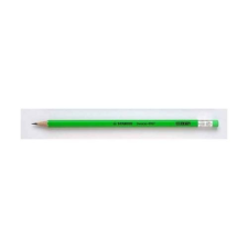 STABILO Grafitceruza STABILO Swano 4907 HB hatszögletű radíros neon zöld ceruza