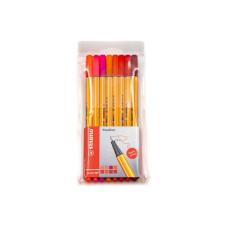 STABILO point 88 tűfilc szett 8db-os, piros árnyalatok filctoll, marker