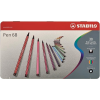 """STABILO Rostirón készlet, 1 mm, fém doboz,  """"Pen 68"""", 30 különböző szín"""